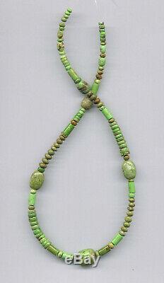 Rare Australian, Natural Apple Green Gaspeite Mixed Beads 1801c