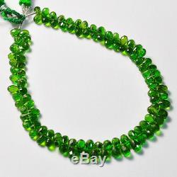 Rare Chrome Tourmaline Faceted Teardrop Briolette Beads 8