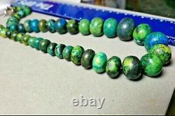 Rare ELIAT King Solomon Israel Gemstone Graduated Bead Necklace 18