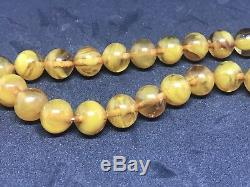 Rare Faturan Kahrabar Stone Baltic Amber Misbaha Tasbih Prayer Beads 55gr 13mm