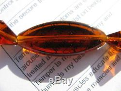 Rare Florescent Sherry Red Burmite Burmese Organic Amber Gemstone Beads Bracelet