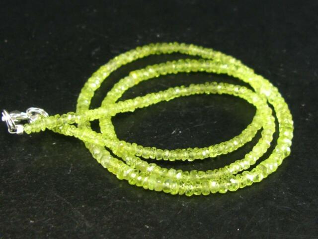 Rare Gem Chrysoberyl Necklace Beads 17.5