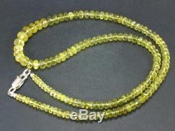 Rare Gem Chrysoberyl Necklace Beads 19.5