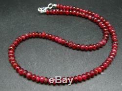 Rare Gem Eudyalite Eudialite Neckalce From Canada 17 6mm Round Beads