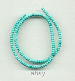 Rare Hi-grade Mexican Nacozari Turquoise Pueblo Drum Beads 17.75 290d