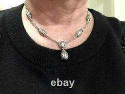 Rare John Hardy Sterling Dot Bead Necklace With Drop Pendant