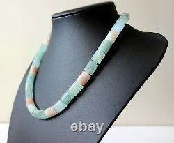 Rare Marropino Morganite and Espirito Santo Aquamarine Necklace, Size 20