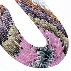Rare Multi Sapphire Precious Gemstone 2mm-3mm Faceted Rondelle Beads 13Strand