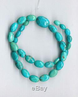 Rare Nacozari Turquoise Faceted Olive Beads 16.75 1705c