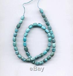 Rare Natural Hi-grade Chinese Cloud Mountain Turquoise Barrel Beads 1023c