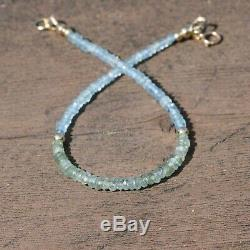 Rare Natural Russian Alexandrite Blue Tourmaline Bracelet Solid 18k Yellow Gold