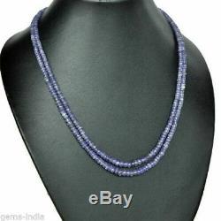 Rare Natural Translucent Purple Blue Tanzanite Beads Necklace 150 ctw 19 Strand