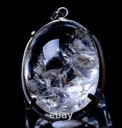 Rare Natural Transparent Stone Inside StoneQuartz Crystal Pendant 15.77g