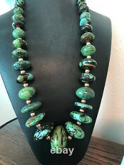 Rare Old Estate Hubei Turquoise Necklace
