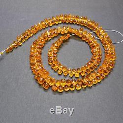 Rare Orange Spessartite Mandarin Garnet Faceted Teardrop Briolette Beads 17.3