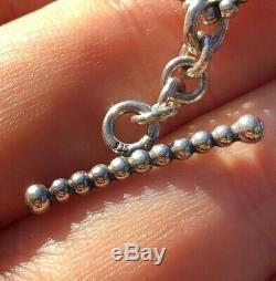 Rare Pandora Grey Moonstone Cabochon Bracelet Sterling Silver