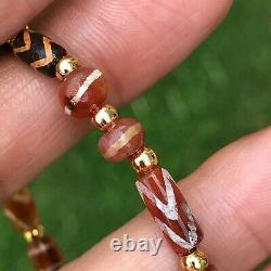 Rare Pyu Etched Carnelian And Etched Agate Stone Bead #B141