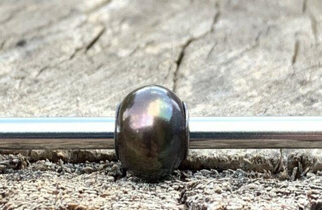 Rare Retired Stunning Trollbeads Black Pearl #1 Htf! Museum Bead