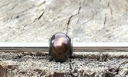 Rare Retired Stunning Trollbeads Black Pearl #2 HTF! Museum Bead