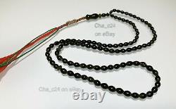 Rare Shah Maghsoud Prayer Beads Natural Stone Sufi Muslim Tasbih Islamic #17