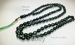 Rare Shah Maghsoud Prayer Beads Natural Stone Sufi Muslim Tasbih Islamic #25