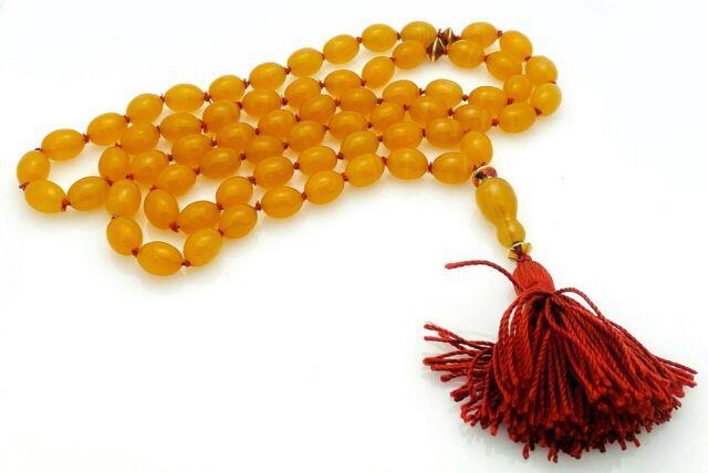 Rare Tiffany & Co. 18k Yellow Gold Orange Agate Beaded Tassel Necklace G443