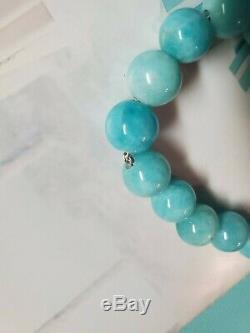 Rare Tiffany & Company Sterling Amazonite Paloma Picasso Knot Bead Bracelet