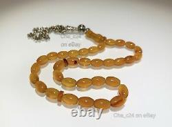 Rare Yemen Aqeeq Prayer Beads Natural Stone Sufi Muslim Tasbih Islamic #3