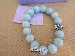 Rarities Carol Broidie Aqua Green Amazonite Stretch Large Bead Bracelet-rare