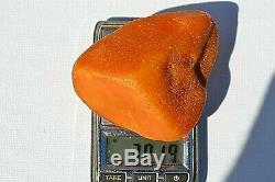 Raw Amber Baltic amber stone pendant RARE dropp 37 gms Egg Yolk