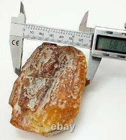 Raw Stone Amber Natural Baltic Vintage Bead 142,7g White Rare Sea Old S-505