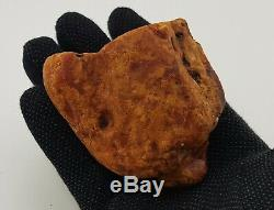 Raw Stone Amber Natural Baltic White 130g Vintage Old Rare Sea Huge Big A-140