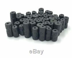 SALE! 55 Pcs Antique Old Rare Black ancient Jade Stone Cylinder Seal beads
