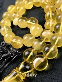 SUPER RARE XL Natural ONE STONE Baltic Amber Prayer Beads 90gr