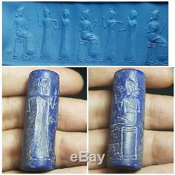 Sasanian neareastern queen rare lapiz stone cylinderseal bead