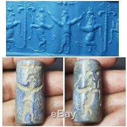 Sasanian rare old lapiz lazuli cylinderseal bead