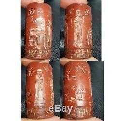 Sassanian Ancient Rare Excellent jasper intaglio seal stone Bead # 33