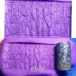 Sassanian Ancient old Rare Lapis Lazuli Stone Inscription Seal Cylinder Old Bead