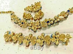 Schiaparelli Signed Vintage Chunky Rare Set Gorgeous Stones! Oh My