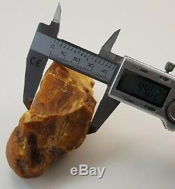 Stone Raw Natural Amber Baltic 164,1g Huge Special Rare Vintage Old White E-219