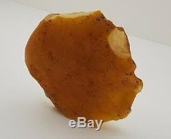 Stone Raw Rare Huge Big White Special 375g Natural Baltic Amber Vintage NO. 132