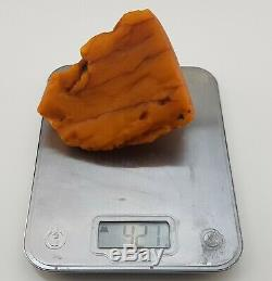 Stone Raw Rare Huge Big White Special 421g Natural Baltic Amber Vintage NO. 130