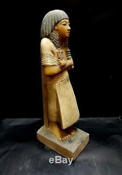 Stunning Stone Hieroglyphic Sculpture Very Rare Egyptian Antiques Bead Statue BC