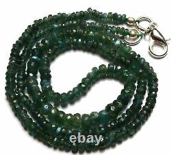 Super Rare Gem Alexandrite Chrysoberyl 2 to 4MM Faceted Rondelle Beads Necklace
