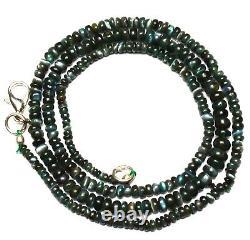 Super Rare Gem Alexandrite Chrysoberyl 3-4MM Smooth Rondelle Beads Necklace 19