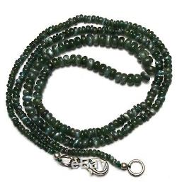 Super Rare Gem Alexandrite Chrysoberyl 3-5MM Smooth Rondelle Beads Necklace 20