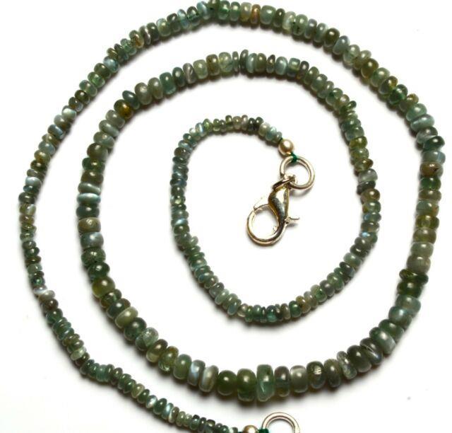 Super Rare Gem Alexandrite Chrysoberyl 3 To 6mm Smooth Rondelle Beads Necklace