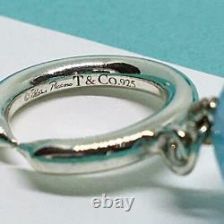 TIFFANY & Co. Paloma Picasso Color Stone Beads Necklace Silver 925 18 Rare F/S