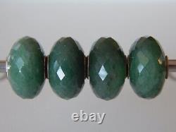 TROLLBEADS Aventurine BEAD #1 Medium color RARE RETIRED Faceted (ONE BEAD) NEW