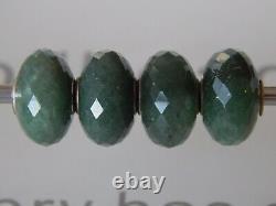 TROLLBEADS Aventurine BEAD #3 Dark RARE RETIRED Faceted Stone (ONE BEAD) NEW